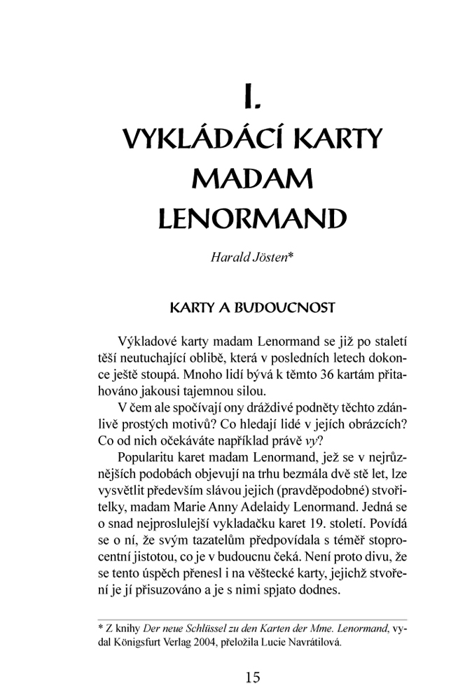 Eugenika Karty Lenormand Kniha